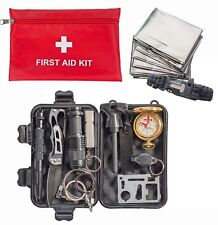 Survival Kit 12-in-1, First Aid Kit, Emergency Tactical RECON Outdoor Camp Gear