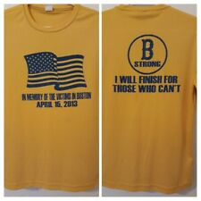 Boston Marathon Tribute Running Shirt Small Will Finish For Those Who Cant