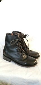 Freebird by Steven MANCHESTER Boots BLACK Lace Up Combat Boot size 9