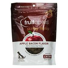 FRUITABLES Skinny Minis Apple Bacon Trainers 12 ounce Treat Pouch for Dogs Pets