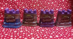 Lot of 4 KINETIC SAND Singles Assort. Colors (Tan, Blue, Purple, White) 4.5oz