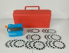 Blue 3D Viewmaster Viewer with 21 Disney Reels (7 sets) and Red Carrying Case