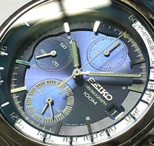 SEIKO Criteria Alarm Chronograph SNA087 SNA087P1 Men Blue Dial Steel Watch