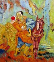 Van Gogh the Good Samaritan Repro, Quality Hand Painted Oil Painting 20x24in