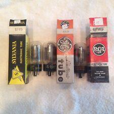 3 Vintage 6FW5 Vacuum Tubes 2 GE 1 Sylvania in Boxes