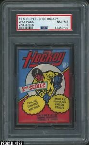1973 O-Pee-Chee OPC Hockey 2nd Series Sealed Unopened Wax Pack PSA 8 NM-MT