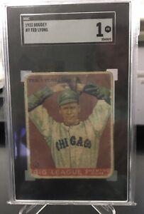 1933 Goudey #7    Ted Lyons    HOF    White Sox  SGC  1 !!