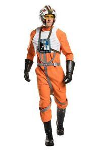 Star Wars X-Wing Pilot Jumpsuit Cosplay Costume w/Boots, Replica Helmet, Blaster