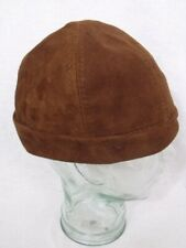 Will Smith I robot Style Brown Suede Leather Beanie Cap