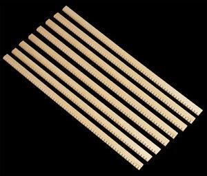 """Set of 8 Basswood Reverse Kerfed Lining 18"""" Length Guitar Ukulele Kerfing Ribbon"""