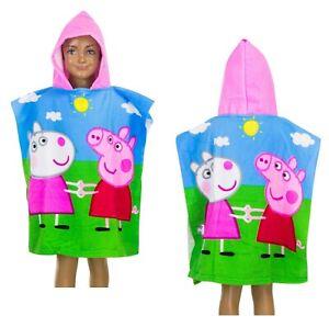 Official Peppa Pig Kids Hooded Poncho Towel Microfibre Girls Gift Oeko 2-6 Year
