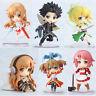 Neu Sword Art Online Mini Q Anime Manga Figuren Set 6 Stück 6cm Cool 003