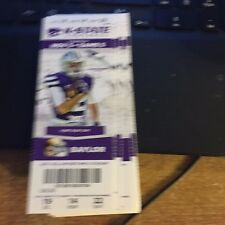 2015 KANSAS STATE WILDCATS VS BAYLOR BEARS FOOTBALL TICKET STUB 11/5
