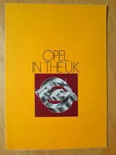 OPEL RANGE orig 1977 1978 UK Mkt Sales Brochure - Kadett Ascona Manta