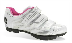 NEW Gaerne G.Venere Women's MTB / BMX Cycling Shoes, White/Pink, US 8.5, EU 40