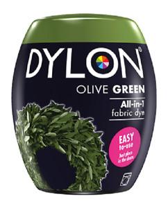 Dylon Olive Green 34 Machine Fabric Dye Pods Permanent Textile Cloth Dyes 350g