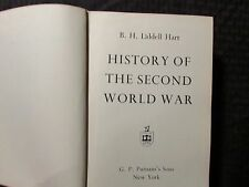 1970 HISTORY OF THE SECOND WORLD WAR by Hart HC VG 4.0 Putnam's