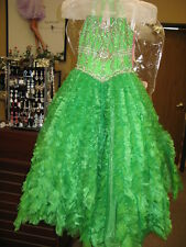 Perfect Angels 1475 Emerald Green Girls Pageant Gown sz 4