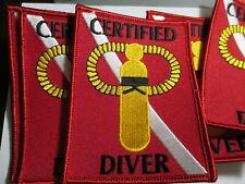 Ten Certified Scuba Diver Patches Vintage Original NOS 3 x 4 Inches