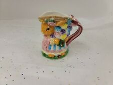 Mercuries Country Bunny Tea Set Replacement Creamer Pitcher Hand Painted