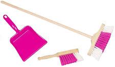 Goki Besengarnitur (Pink) Besen Handfeger Kehrblech Spielzeug Kinder Kinderbesen