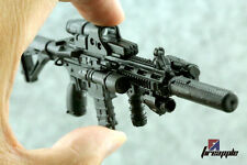 "1:6 Scale Weapon Model Assembly Assault rifle Gun 4D Black HK416 For 12"" Figure"