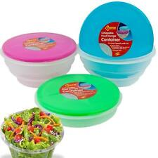 COLLAPSIBLE FOOD STORAGE CONTAINER BOWL LUNCH PET MICROWAVE FREEZER DISHWASHER