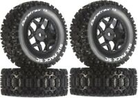 Duratrax Six Pack SC C2 Mounted Tires / Wheels (4) Losi SCTE 4x4 Front / Rear