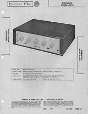1957 SHERWOOD S-1000 TUBE AMPLIFIER AMP SERVICE MANUAL PHOTOFACT SCHEMATIC FIX