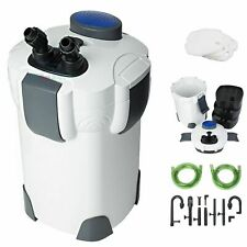 New Aquarium 3-Stage External Canister Filter 265 GPH for Fresh/Salt Water 75Gal