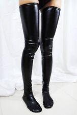 Sexy Black PVC Latex Wet Look 90cm, 35.4'' Length Fetish Rocky Horror stockings