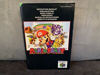 Notice Mode D'emploi Mario Party pour Nintendo 64 N64