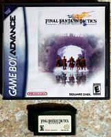 Final Fantasy Tactics Advance (Nintendo Game Boy Advance, 2003) Game & Hard Case