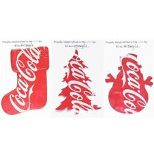 Three Handmade Christmas Ornaments Made With Recycled Aluminum Soda Cans Set 1C