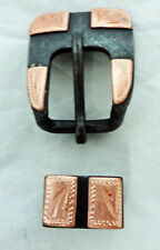 """Punchy Brown Iron Copper Square Heel Buckle Loop 5/8"""" Horse Tack New Headstall"""