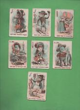 7 VINTAGE 1905 DR.BUSBY GAME CARDS
