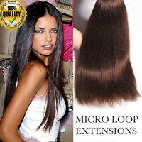 AAAA Brazilian 100% EASY MICRO RING LOOP HUMAN HAIR EXTENSIONS Remy UK223