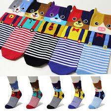 5 Pairs Cute Animal Women Kids Girl Funny Characters Socks Made In Korea Socks