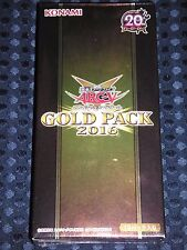 NEW YuGiOh! ARC-V OCG GOLD PACK 2016 BOX rare secret KONAMI JAPAN F/S w/Tracking