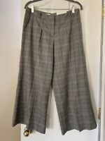 Cato Contemporary Womens Skirt Pants Size 6 Multicolored Gray Plaid Pockets