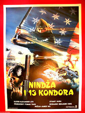 NINJA CONDORS 13 87's  ALEKSANDER REI  GODFREY HO MARTIAL ARTS EXYU MOVIE POSTER
