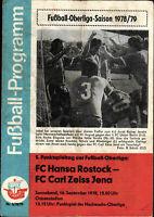 OL 78/79 FC Hansa Rostock - FC Carl Zeiss Jena, 16.09.1978, Rainer Jarohs