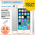 Apple iPhone 5s 16GB EE Orange T-Mobile Virgin Mobile - White/ Silver