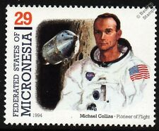 Michael Collins (Astronaut) Command Module Pilot APOLLO XI Moon Spacecraft Stamp