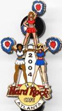 Hard Rock Cafe ATLANTA 2004 CHEERLEADER Girls PIN Pyramid POM-POMS - HRC #21105