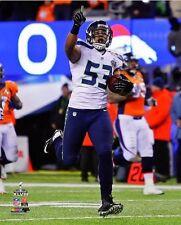 2014 Super Bowl XLVIII MALCOLM SMITH INT->Touchdown Seattle Seahawks 8x10 photo