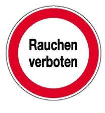 Rauchverbot-Schild-Schilder-Warnschild-Türschild-20cm Ø