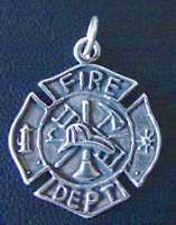 Firefighter maltese cross pendant ebay firefighter maltese protection cross badge sterling silver pendant charm jewelry aloadofball Choice Image