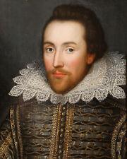 1610 Playwright Poet WILLIAM BILL SHAKESPEARE Glossy 8x10 Photo Cobbe Portrait
