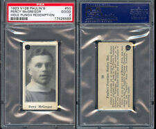 1923 V128 PAULIN'S CANDY #50 PERCY MCGREGOR PSA 2